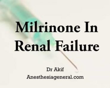 Milrinone in Renal Failure