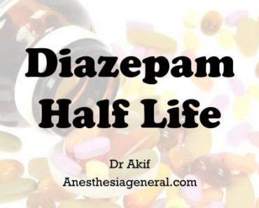 Diazepam half life
